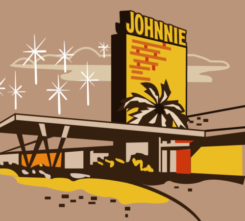 Johnnie Clothing Sahara Las Vegas Illustration